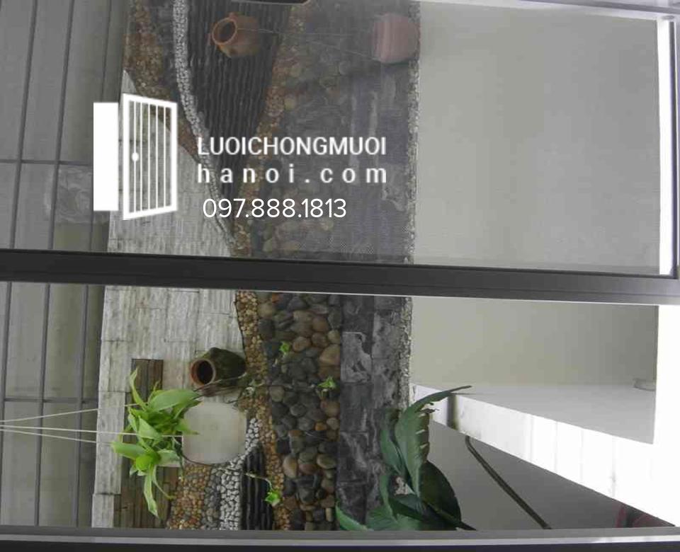 Cửa Lưới Chống Muỗi Tự Cuốn Màu Ghi